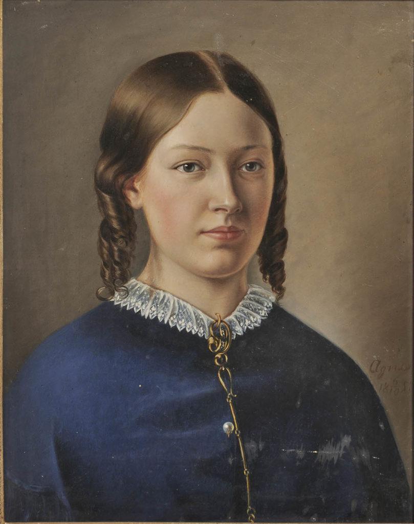 """""""Kvinnliga konstnärer på Grönsöö"""" Augusta von Ehrenheim målad av Agnes Börjesson"""